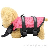 Morecome Pet Coat Products Adjustable Doggy Life Jacket with Rescue Handle - B07DWTQH7B