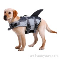 NACOCO Dog Life Jacket Shark Vest Pet Swimsuit Preserver - B07BHK9HWX
