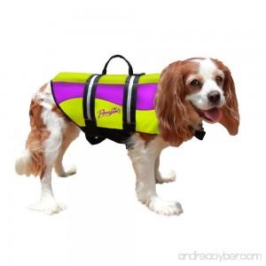 Pawz Pet Products Neoprene Dog Life Jacket Extra Extra Small Yellow / Purple - B00Z6KYAD2