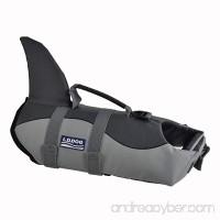 Pet Life Jacket Cosplay Shark Floatation Vest Dog Lifesaver Safety Preserver for Swimming Training - B071ZS6CMW