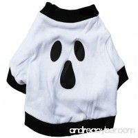 Gotd Pet Festival Costume for Small Dogs Ghost Pet Shirt (m White) - B01L8COJYQ