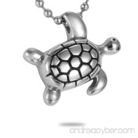 HooAMI Cremation Jewelry Silver Lovely Turtle Charm Pet Memorial Urn Necklace Ashes Keepsake Pendant - B015FPWD54