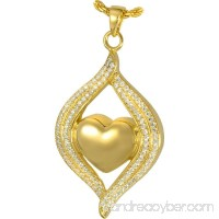 Memorial Gallery 3320bgp Teardrop Ribbon Heart Midnight Stones 14K Gold/Silver Plating Pet Jewelry - B01EWHNTGS