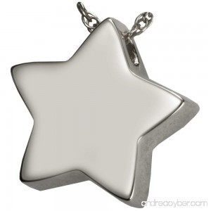Memorial Gallery MG-3125gp Slide Star 14K Gold/Sterling Silver Plating Cremation Pet Jewelry - B01EWHM9RS
