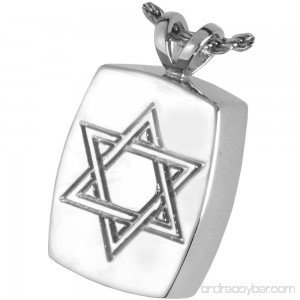 Memorial Gallery MG-3143GP Star of David 14K Gold/Sterling Silver Plating Cremation Pet Jewelry - B01EWHMWCA
