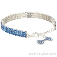 Mirage Pet Products 10 to 12-Inch Glamour Bits Pet Jewelry Large Blue - B0085F0QU6