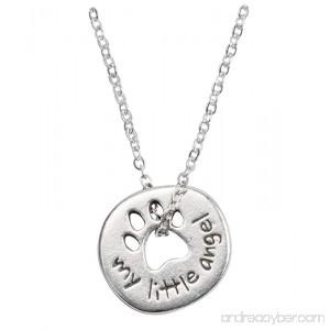 Rockin Doggie Pewter Paw Necklace My Little Angel - B00ESZEOTG