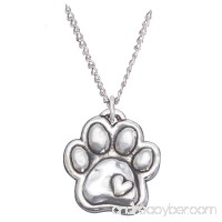 Rockin Doggie Sterling Silver Necklace  Paw with Heart - B00A2HZJWA