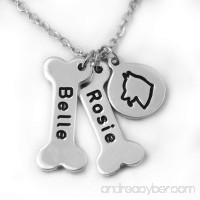 Siberian Husky Dog Necklace Personalized Dog names collor Dog Bone & Dog breeds Charm Necklace.Your Lover Pet Gift. - B06XGCYCHQ id=ASIN