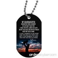 To My Granddaughter Dog Tag With chain - Granddaughter and Grandpa Necklace personalised - Cute Gift for teen Girls  Military inspired aluminum dog tag - B07BZDM471