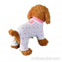 Axchongery Dog Jumpsuit  Summer Small Pet Cat Printed Pajamas Puppy Ribbon Apparel - B07BKYN46R