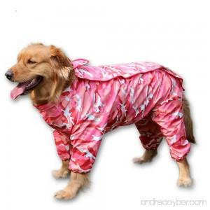 BBEART Dog Raincoat Fashion Four-legged Hooded Pet Raincoat Rain Jacket Jumpsuit Rain Poncho Coat Slicker Camouflage Long Sleeves Rainproof Clothes for Small Medium Large Dogs Cool - B06ZXR465R