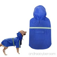 Dog Raincoat Waterproof Reflective Dog Poncho PU Leisure Lightweight Rain Jacket Coat For Puppy Medium Large Dogs - B079HV1JY5