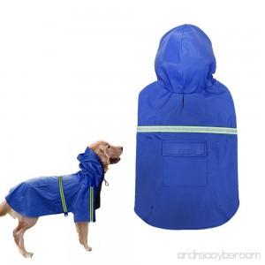 Dog Raincoat Waterproof Reflective Dog Poncho PU Leisure Lightweight Rain Jacket Coat For Puppy Medium Large Dogs - B079HV1JY5
