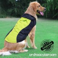 Ezer Dog Raincoat - High Visibility Waterproof Dog Raincoat Rainwear Dog Jacket for Small Medium and Large Dog. - B075WHDWNW