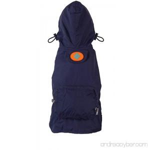 fabdog Packable Dog Raincoat Navy (Medium) - B009WUO7L2