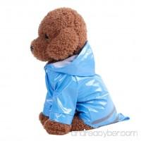 FUNIC Pet Clothes Pet Dog Hooded Raincoat Pet Puppy Dog Waterproof Jacket Coat (S Blue) - B075STTL5D