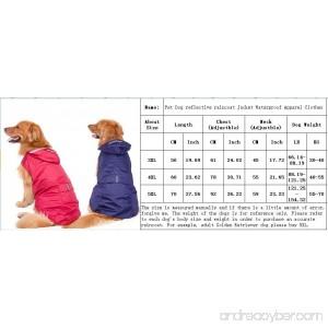 FunnyTown Pet Dog Rain Poncho Coat Jacket Puppy Waterproof Coat Dog Raincoat Raining Outdoor Apparel Clothes - B07BK5PHYR