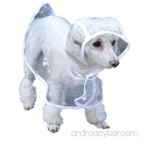 Giveme5 Waterproof Puppy Raincoat Transparent Pet Rainwear Clothes for Small Dogs/Cats - B01L1V9H6Y