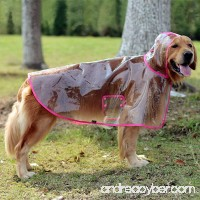 Glanzzeit Dog See-through Raincoat Cool Rain Jackets Adjustable Poncho for Medium Large Dogs 2XL to 6XL - B06XKBR3J4