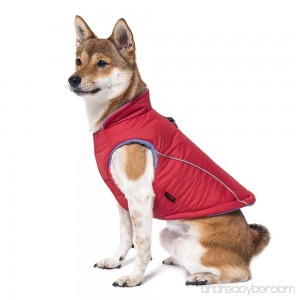 Gooby Cold Weather Fleece Lined Sports Dog Vest with Reflective Lining - B01IEOV8O0