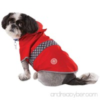 Good2Go Reversible Dog Raincoat in Red - B074V8J5SD