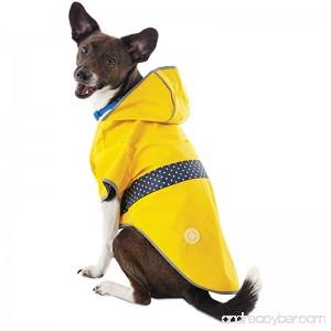 Good2Go Reversible Dog Raincoat in Yellow - B074RJR65G