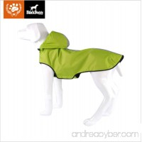 KINGSWELL Dog Jacket Waterproof Light weight Rain Coat for Large Medium Small Dogs with Hood and Reflective Strips(Green) - B07C27BG2J