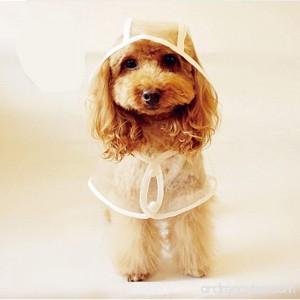LUCKSTAR Pet Raincoat - Waterproof Dog Puppy Coat Dog Poodle Pet Transparent Raincoat Rainwear Clothes Dress (M ) - B00LFGENW4