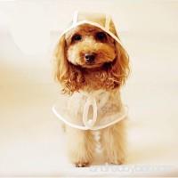 LUCKSTAR Pet Raincoat - Waterproof Dog Puppy Coat Dog Poodle Pet Transparent Raincoat Rainwear Clothes Dress (S) - B00LFGENZ6
