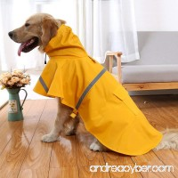 OCSOSO Pet Dog Slicker Raincoat Gear Brite Rain Jackets Dog Cat Hooded with Reflective Band - B00QYACK44