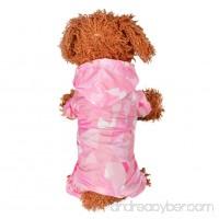 PanDaDa Pet Raincoat Waterproof Lightweight Dog Cat Rain Jacket Hoodie Jumpsuit - B07DKBGWTX
