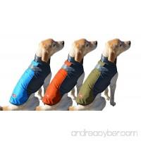 Peak Pooch Cold Weather Dog Jacket  Lightweight  Wind Resistant  Waterproof Rip Stop Nylon  Warm Rain Coat w/Leash Opening - B019G84WV4