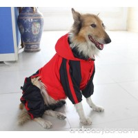 Pet Apparel Dog Clothing Clothes Rain Snow Coats Waterproof Raincoat For Small Medium Large Big Size Dogs Adorable Hoodie Costumes - B076F1ZS25