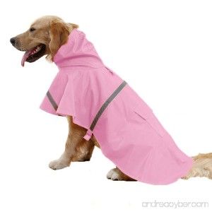 Pet Fashion Rainy Days Waterproof Clothes Lightweight Rain Pet Rainwear Clothes for small &large dog Pet Products Packable - B077HRTMC4