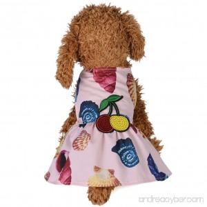 Pets Dress Summer Print Dog Conch beach Skirt Small Puppy Cat Party Clothes Axchongery - B07DLNM3QS