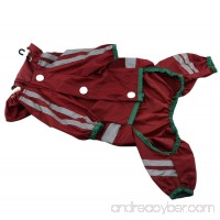Puppy Dogs Raincoats Poncho with Safe Reflective Tape and Adjustable Elastic - B079MC3P9Q