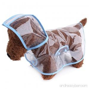 S-Lifeeling Fashion Puppy Pet Raincoat Transparent Waterproof Outdoor Dog Raincoat Hooded Jacket Poncho Pet Raincoat for Medium Dogs Large Dogs - B073VHLMLY