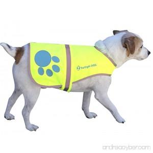 Twilight Dog Waterproof Florescent Reflective Dog Safety Vest with Adjustable Strap Medium - B00R8MY748