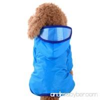 vmree Dog Raincoat Pet Puppy Rainwear Hooded Clothes Waterproof Jacket - B0779138S9
