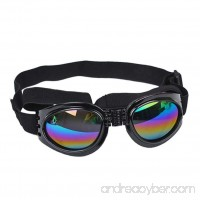 Dog Sunglasses  OOEOO New Multi-Color Eye Wear Protection Waterproof Pet Goggles (Black  Free size) - B07DCJLF9T