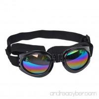 Dog Sunglasses  OOEOO New Multi-Color Eye Wear Protection Waterproof Pet Goggles (Black  Free size) - B07DCJLF9T