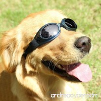 Dog Sunglasses UV Protective Windproof Anti-fog Goggles for Pet - B073PRHF82