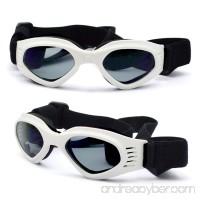 ENJOYING Pet Dog Sunglasses - Protective Eyewear Goggles Small Waterproof Protection (White) - B013SZNJEW