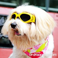 ENJOYING Pet Dog Sunglasses - Protective Eyewear Goggles Small Waterproof Protection (Yellow) - B013SZO1ZS