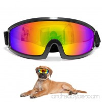Pet Large Sunglasses Dog Goggles UV Protection Eye Wear Waterproof Pet Goggle with Adjustable Strap for for medium Large Dogs Travel Skiing Surfing Driving (Silver) - B07BFC1MBQ