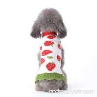 ABRRLO Pet Clothes the Strawberry Cat Puppy Dog Sweater  Polyester Dog Apparel Pet Sweatshirt - B077ZPMBR6