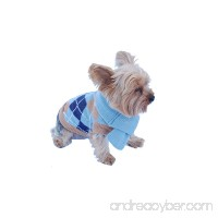 Anima Knit Argyle Sweater with Matching 14-Inch Scarf - Blue/Purple (Large Medium Small Extra Small) - B0093Y61VQ