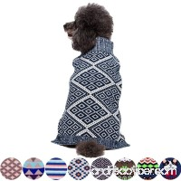 Blueberry Pet 8 Patterns Blue & White Diamond Pattern or Vintage Octagons and Squares Dog Sweater - B00N4M4AD4