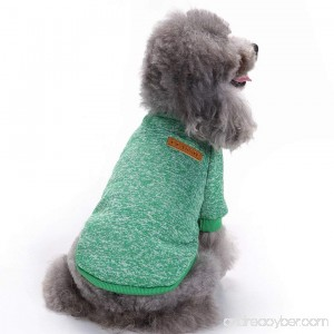 CHBORCHICEN Pet Dog Soft Sweater Clothing For Small Dogs Classic Knitwear Sweater Warm Winter Puppy Pet Coat - B073ZZWPWV